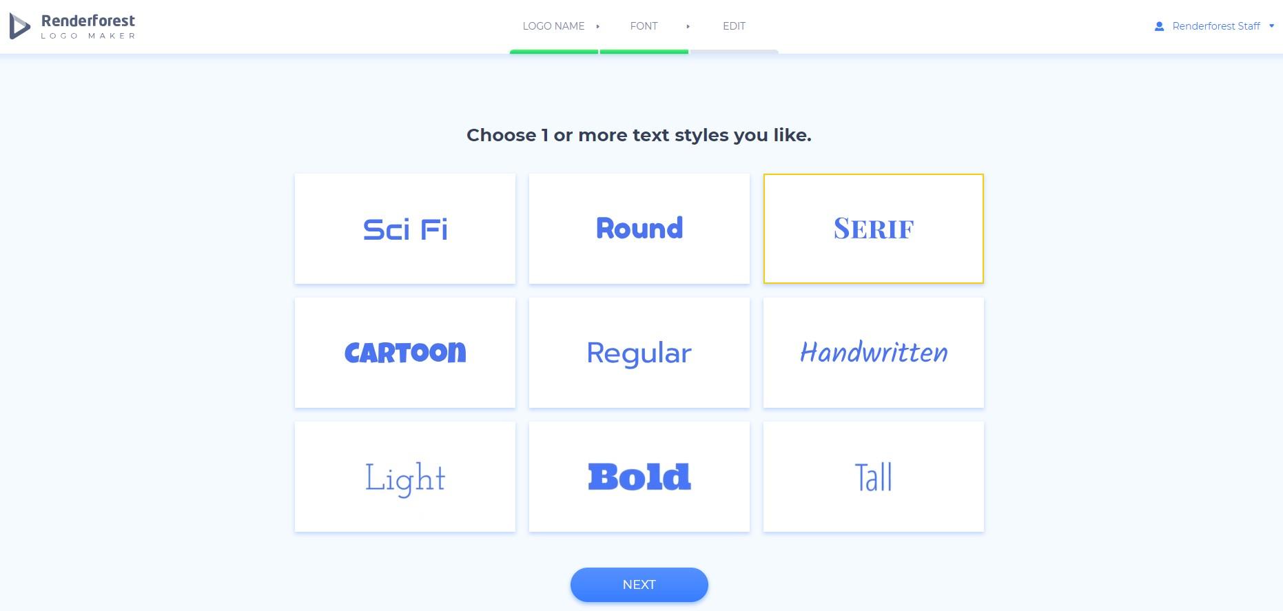 Logo maker - Font Styles
