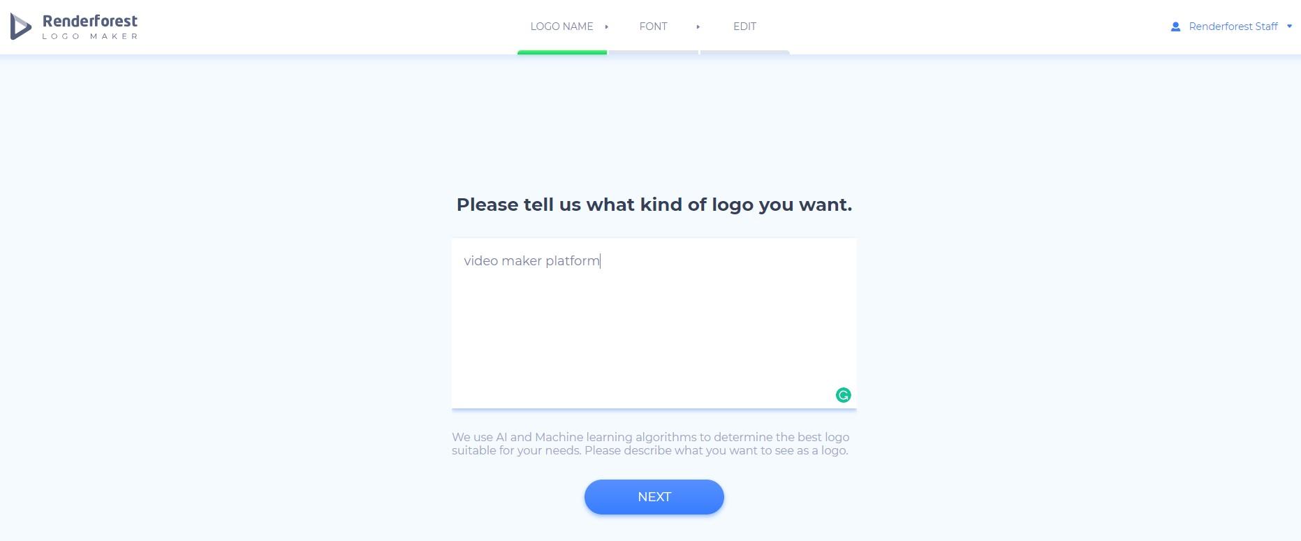 Logo maker - add description