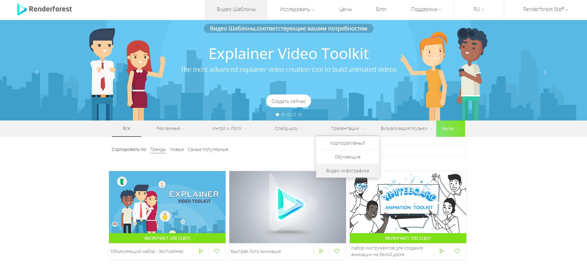 Шаблоны Видео Инфографики