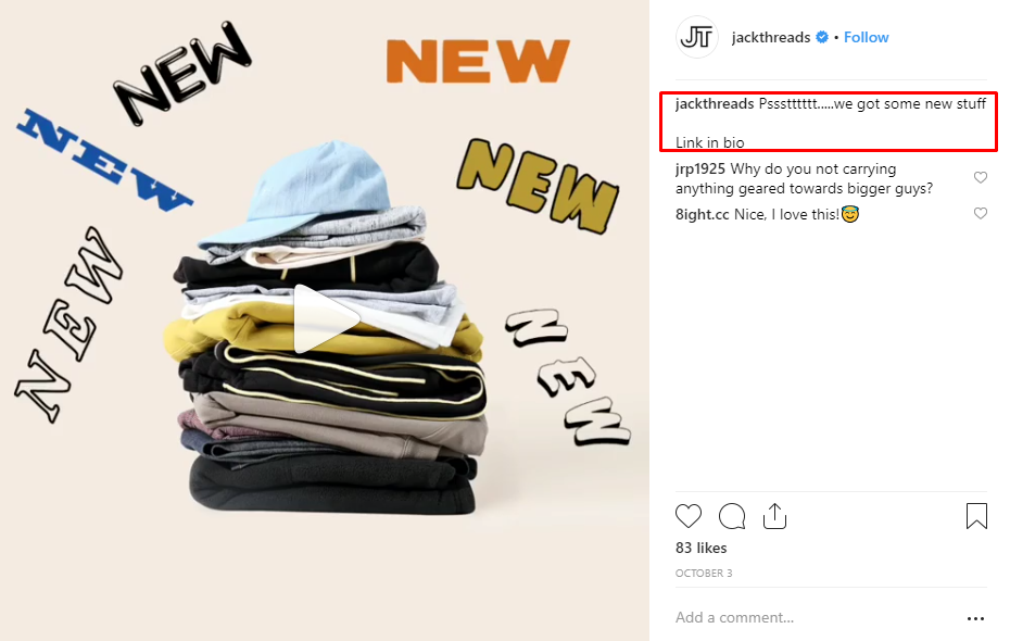 Promote new products on Instagram