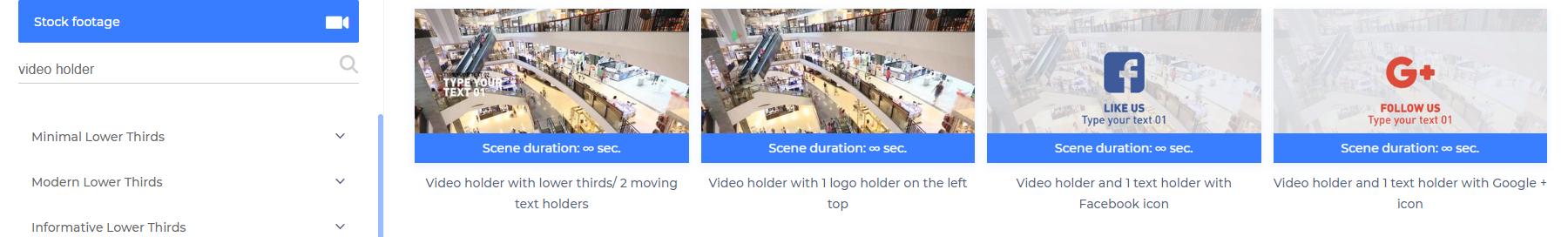 Video Holder Scene