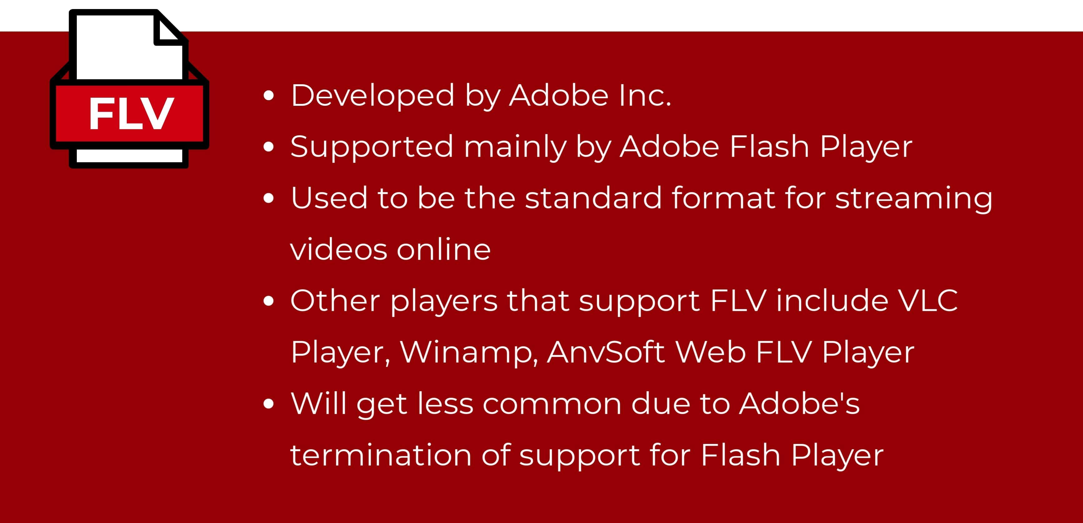 Flash Video format (FLV)