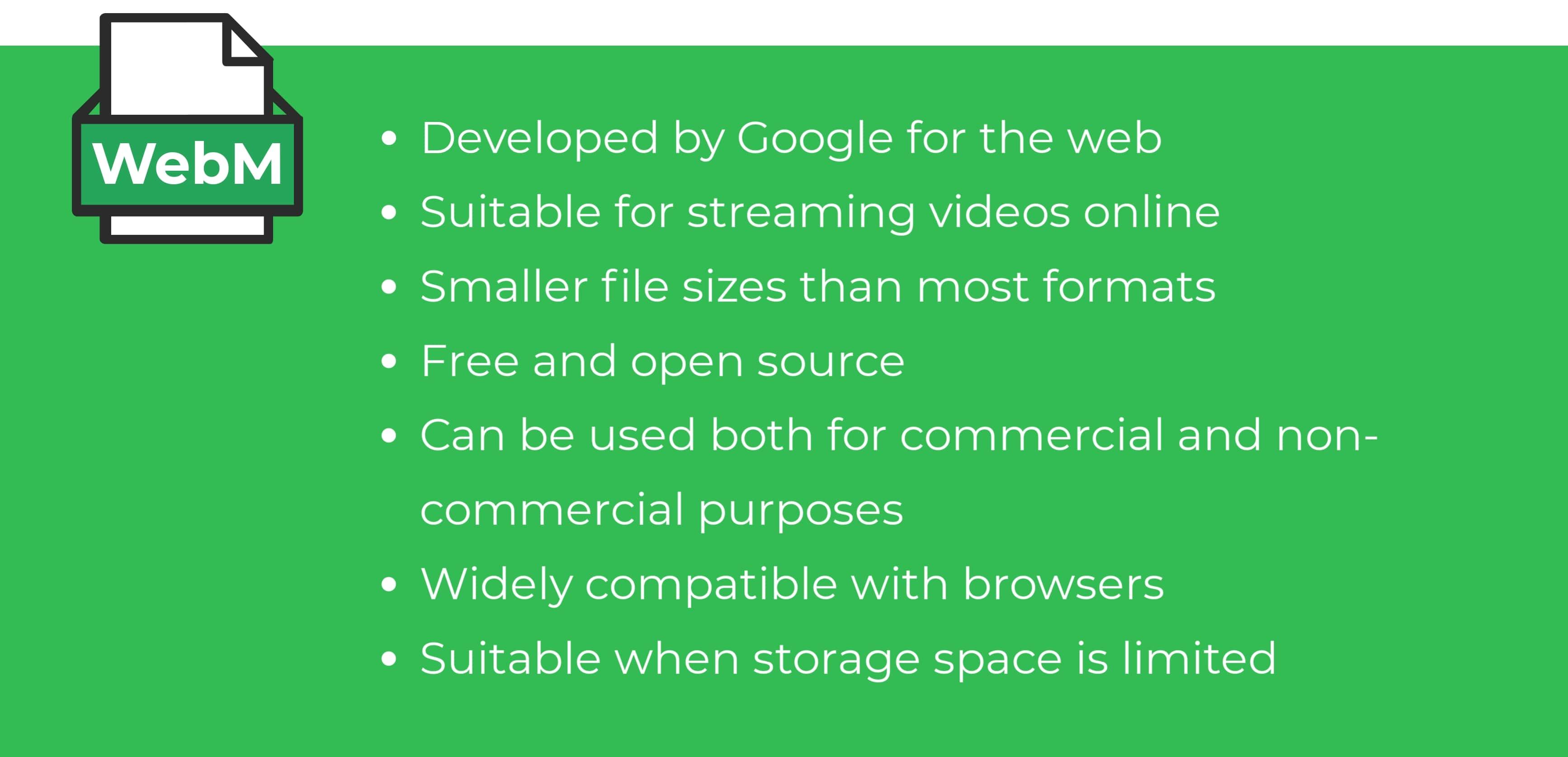 WebM video format