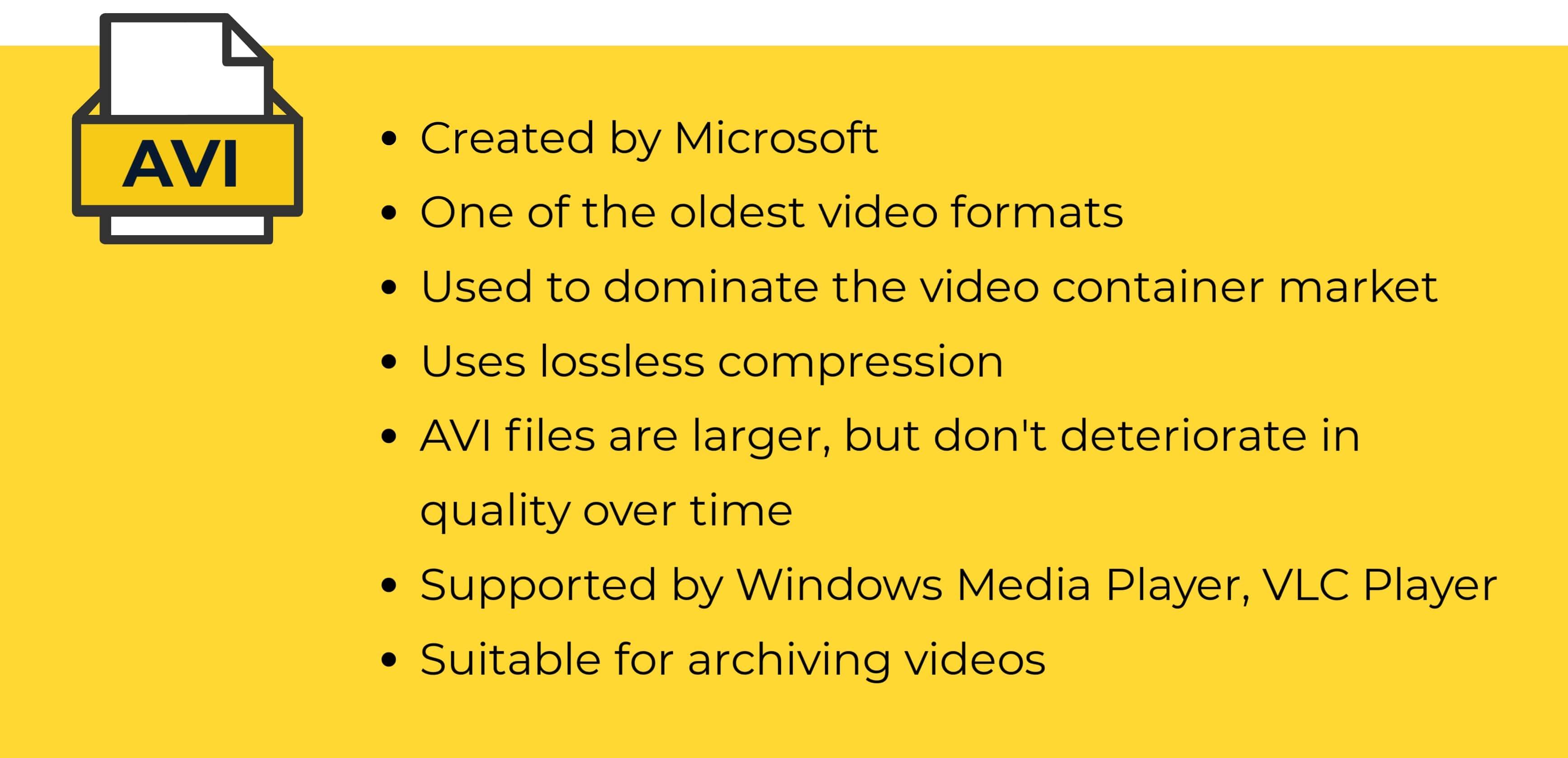 AVI video format