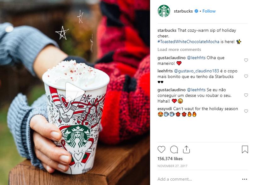Starbucks seasonal campaign