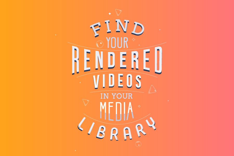 Encuentre sus videos renderizados en la Biblioteca Multimedia