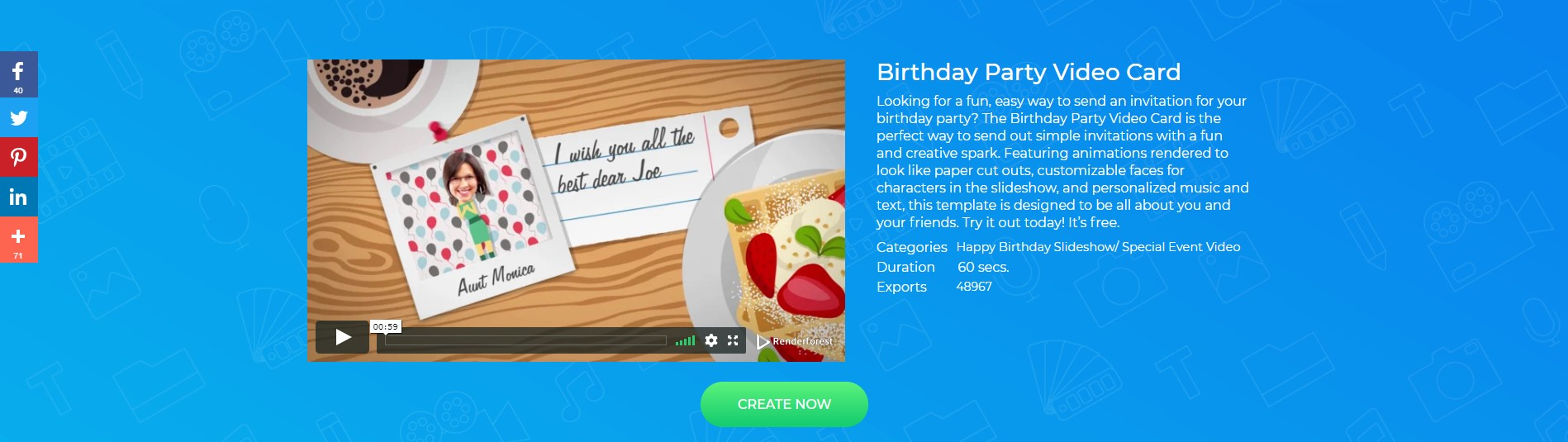 Birthday Video Greeting Template