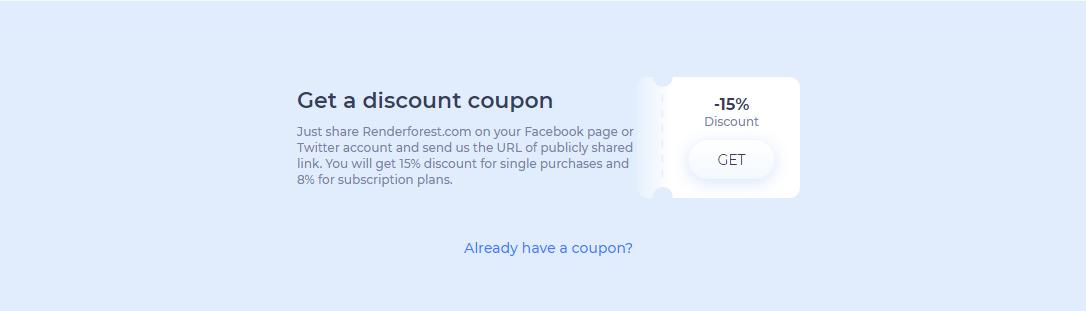 get a coupon code