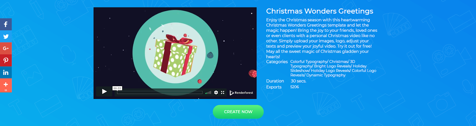 Christmas Greeting Video Template