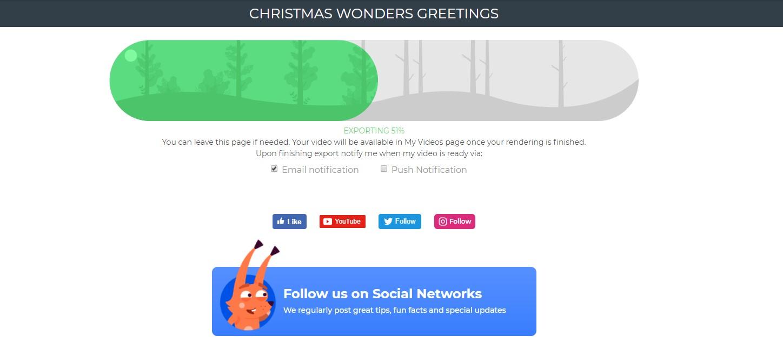 Christmas Greeting Video Rendering