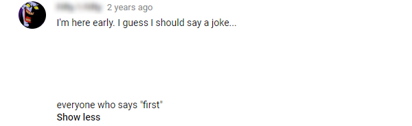 Youtube First Comment