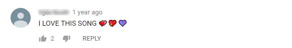 Comentários engraçados no Youtube sobre corações