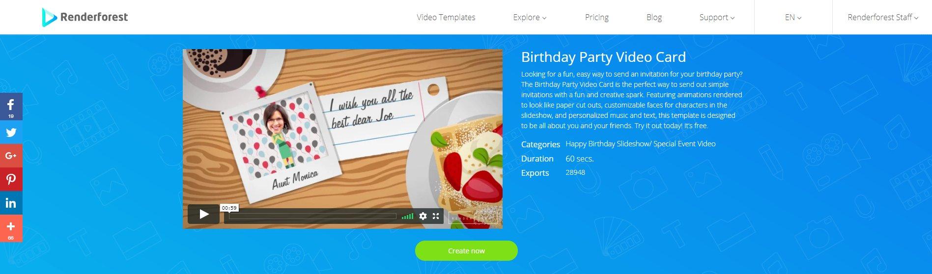 Видео-открытка на день рождения