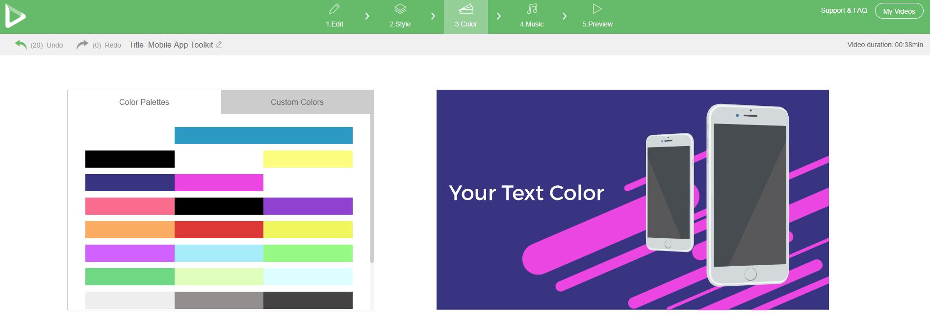 App Promo Toolkit Colors
