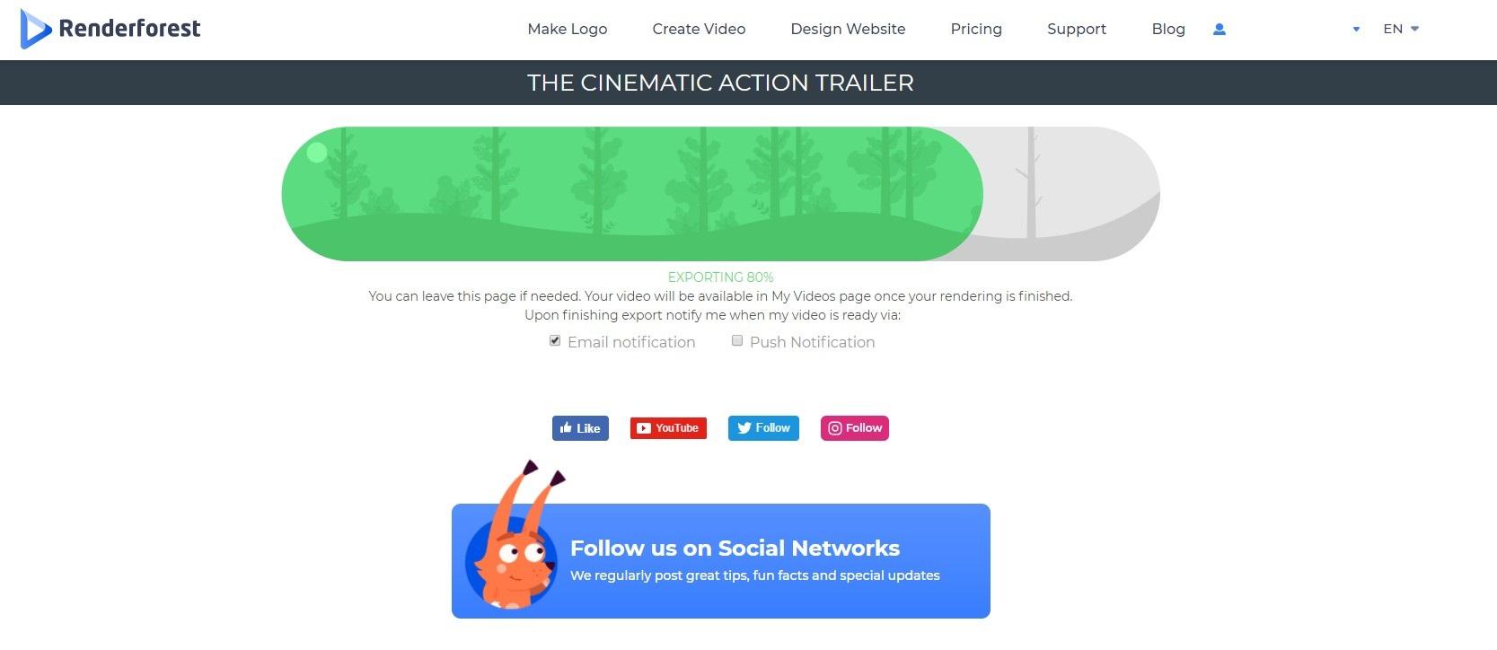 Cinematic Action Trailer - Render