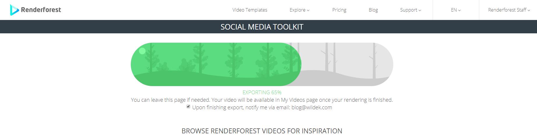 Renderforest Video Export
