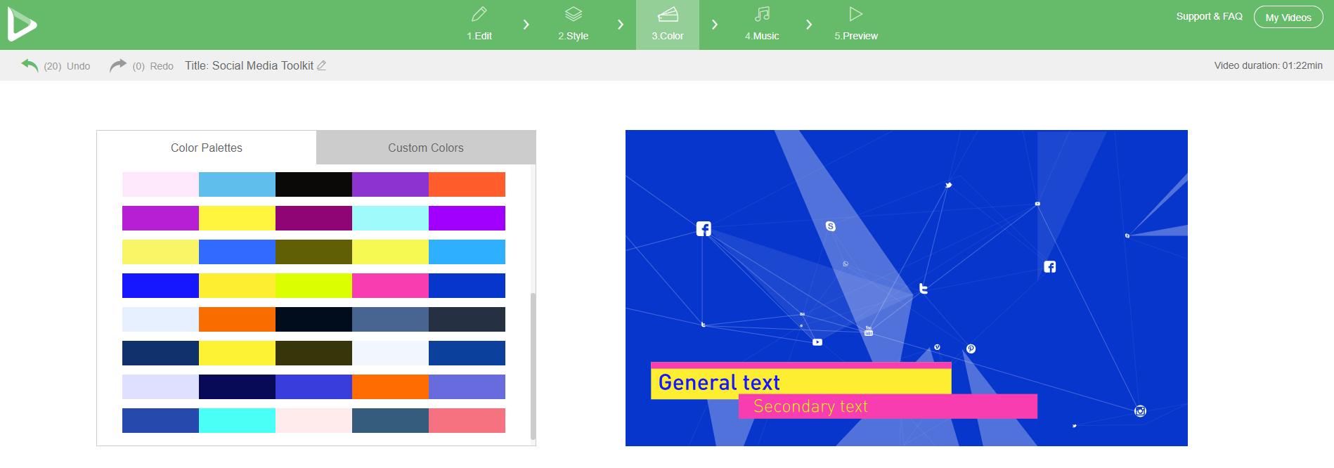 Social Media Toolkit - Colors