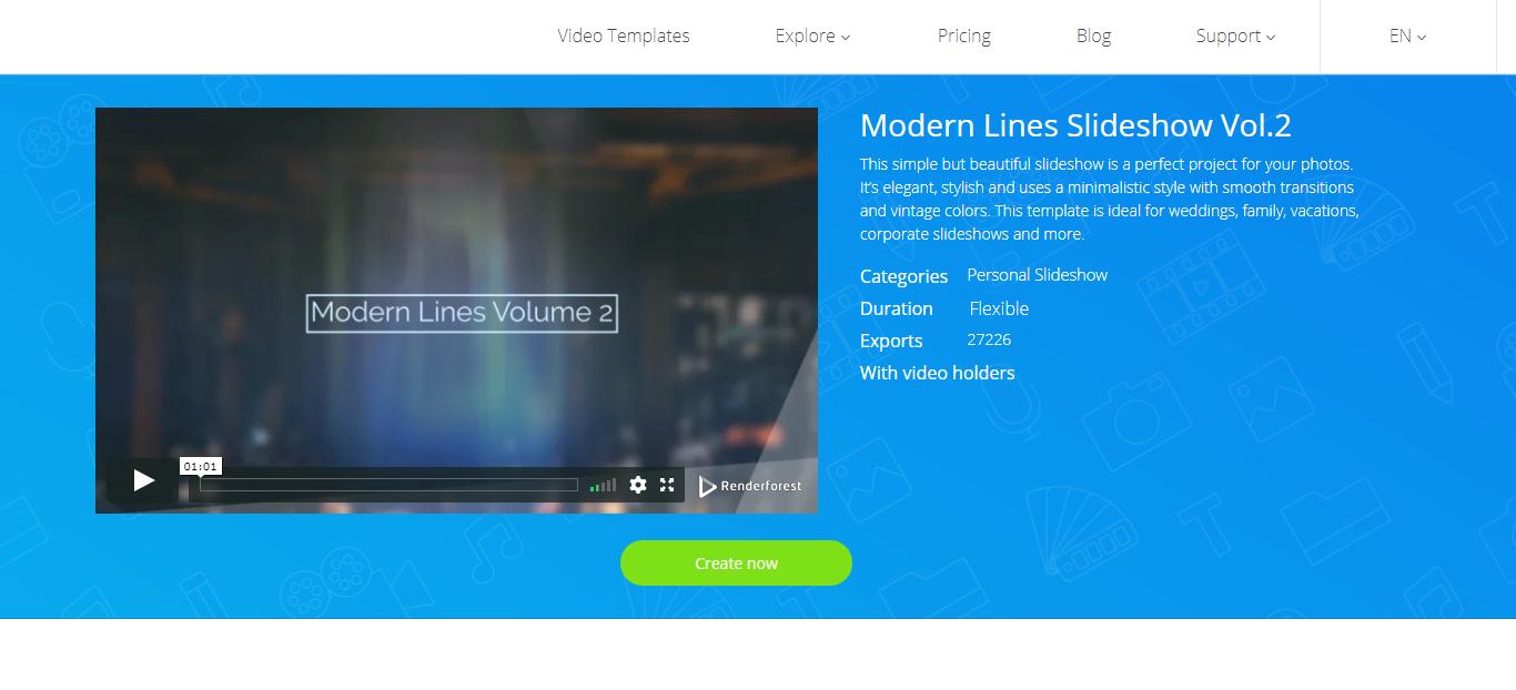 Slideshow Video Templates