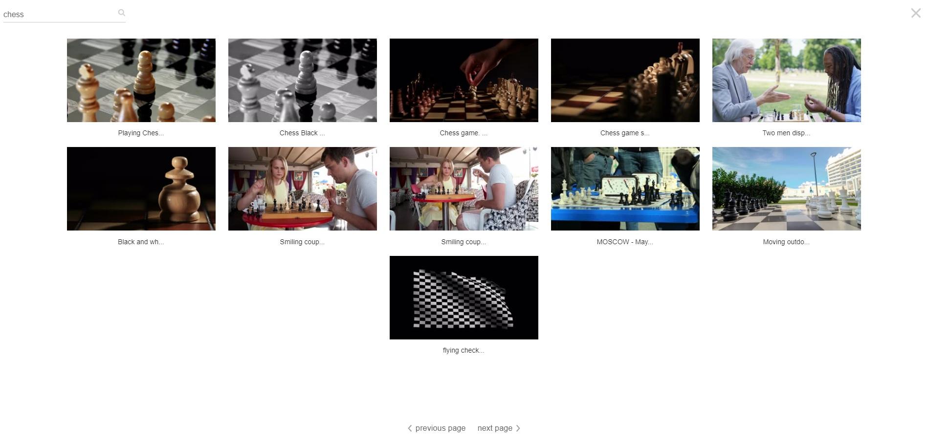 Chess Video Scenes