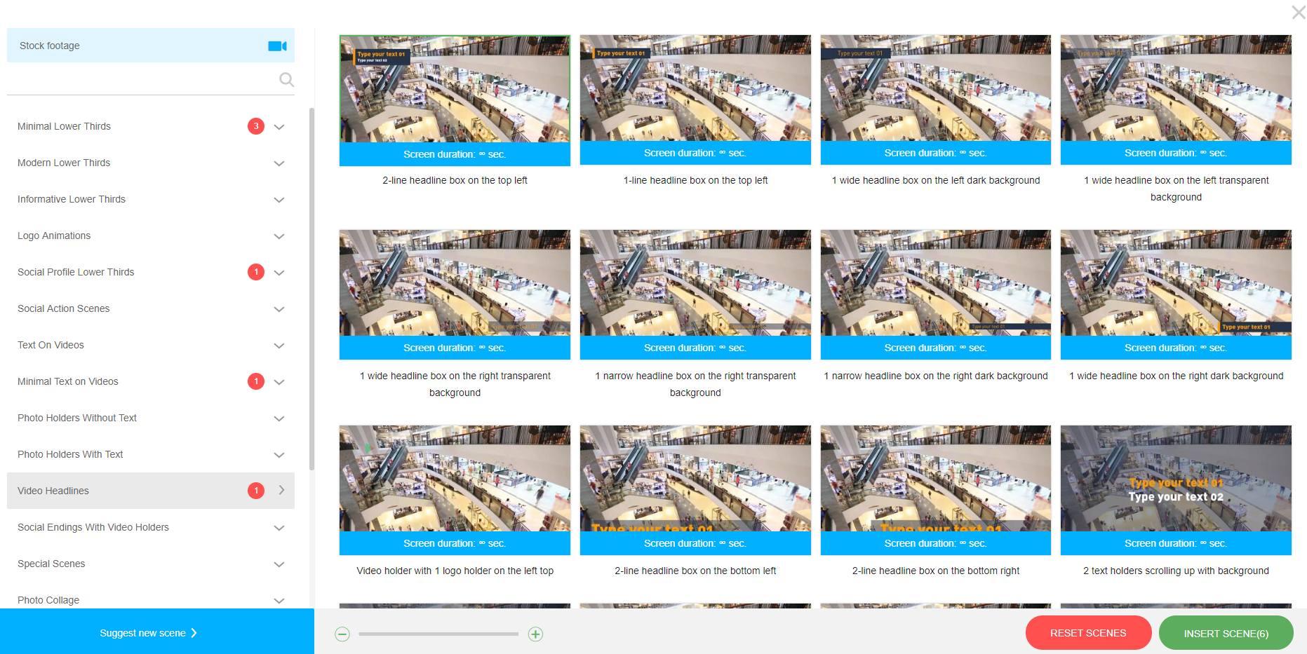 Набор инструментов для монтажа видео для трансляции - Сцены