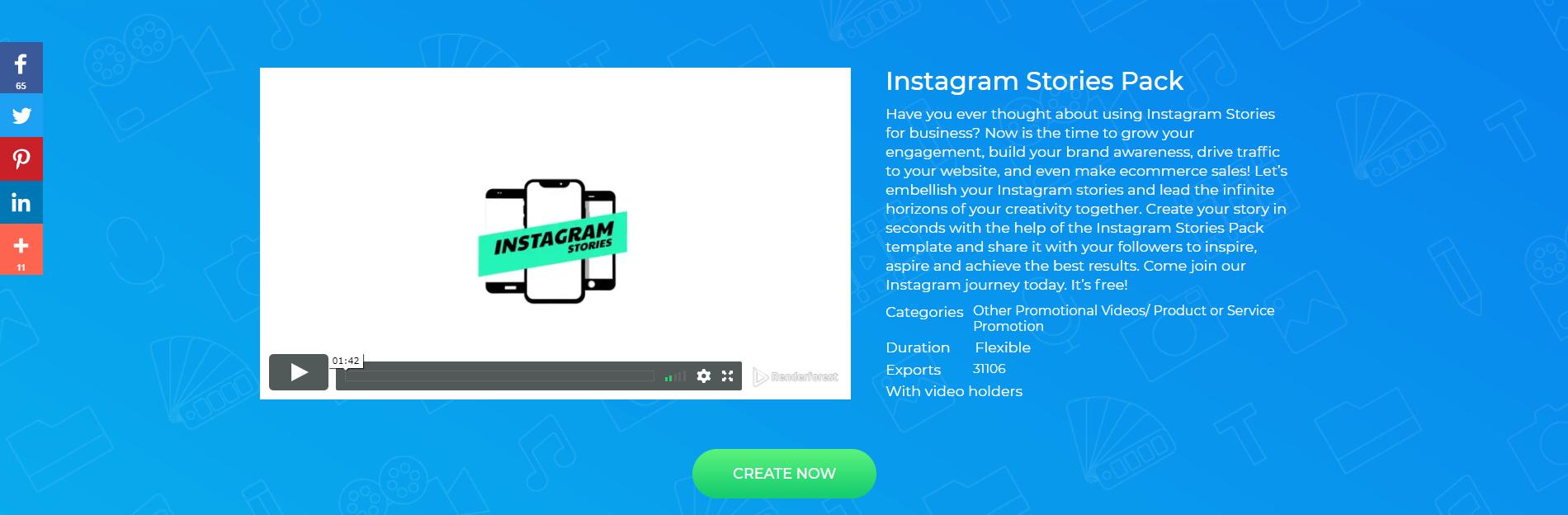 Instagram Stories Video Template