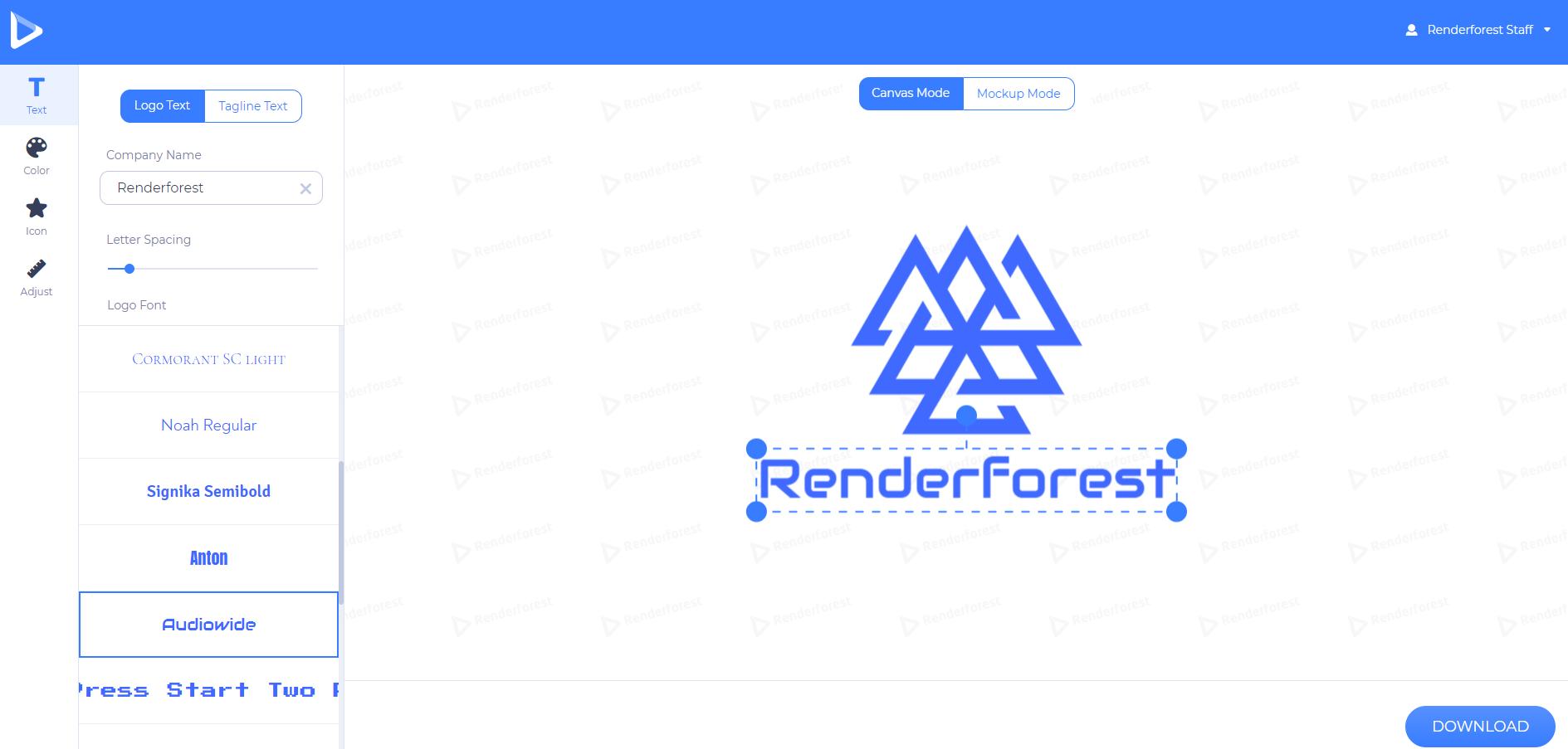 customize your logo texts