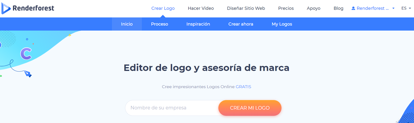 Renderforest logo maker