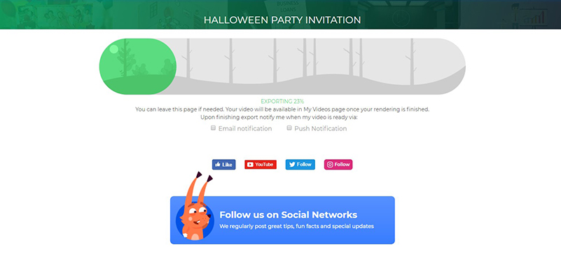 Halloween Invitations video export