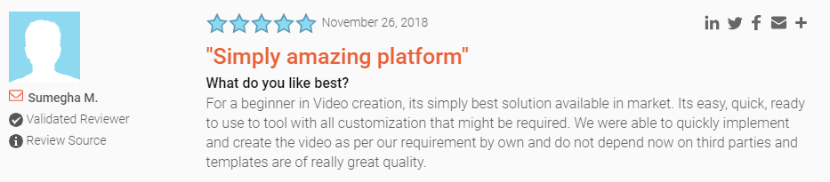 G2Crowd Renderforest review
