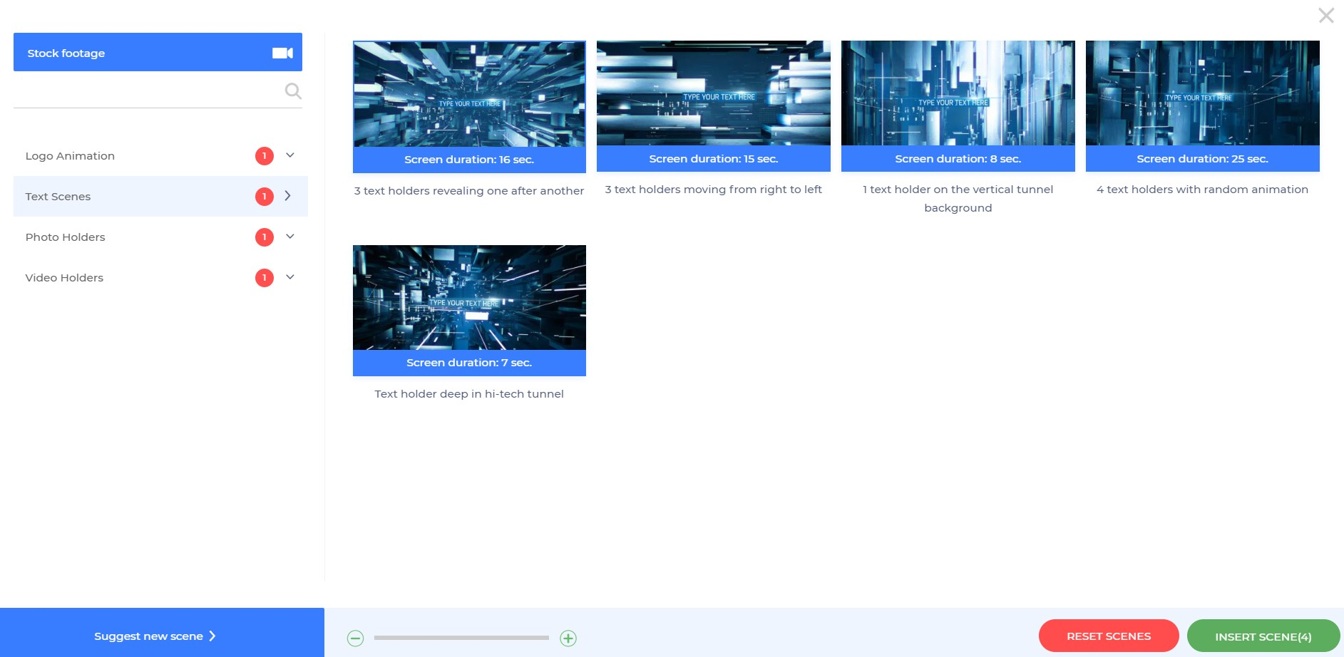 Video Presentation Scenes