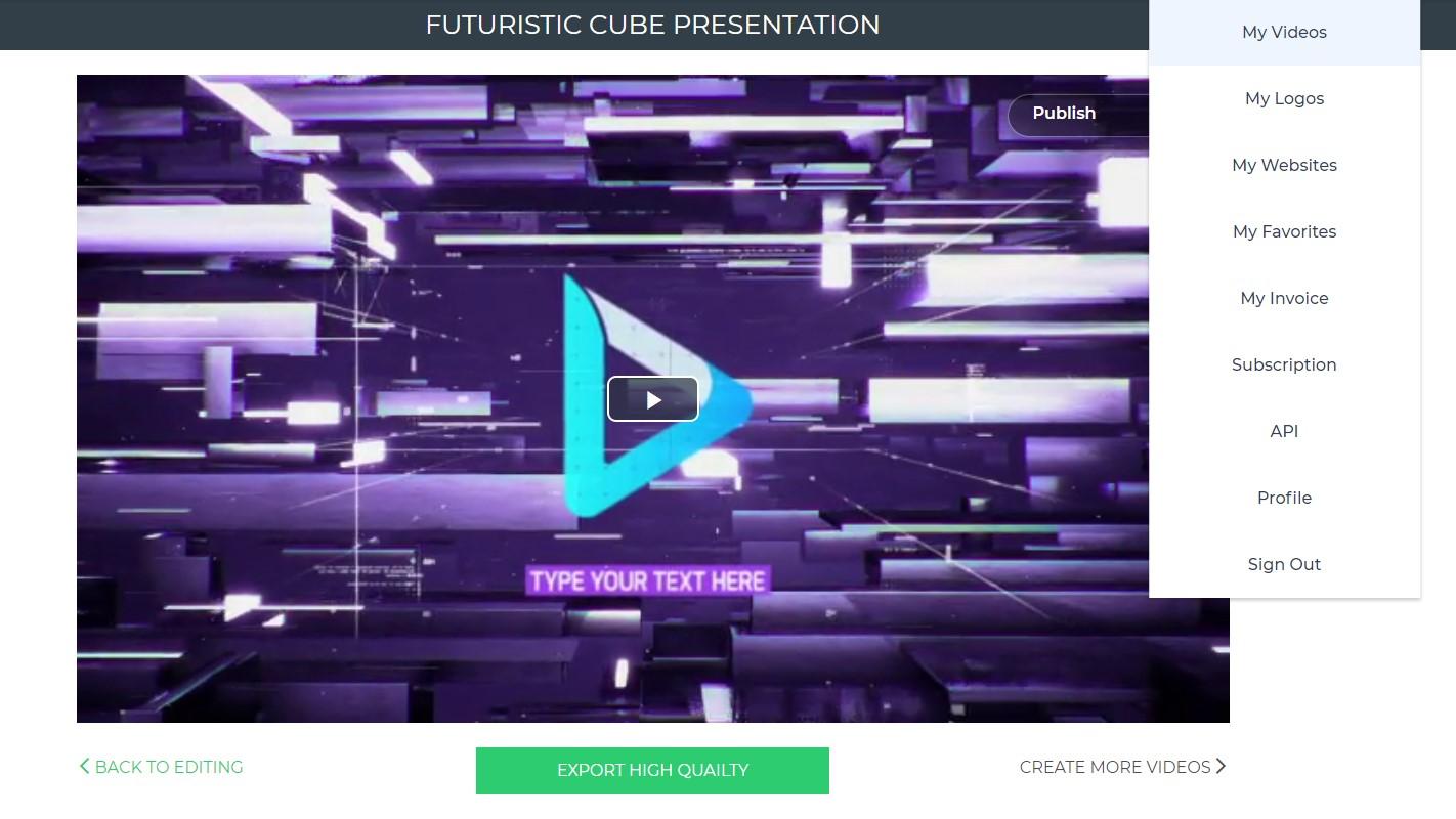 Video Presentation Export