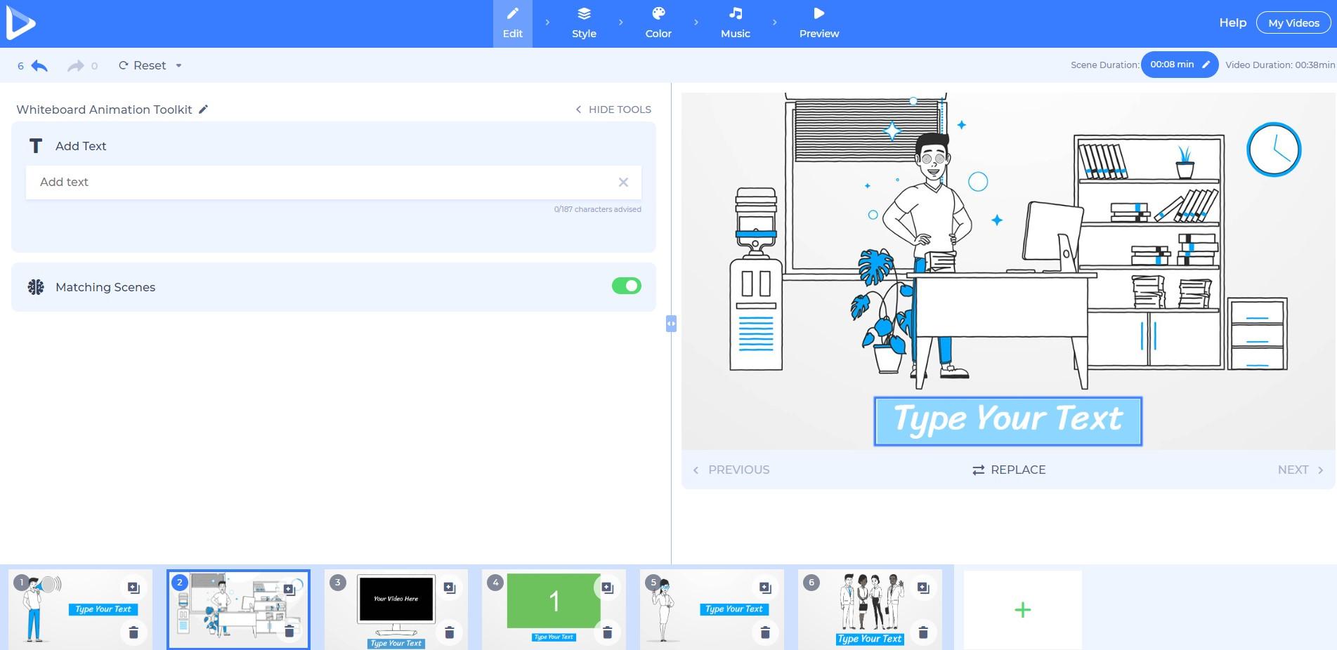 Whiteboard Animation Dashboard