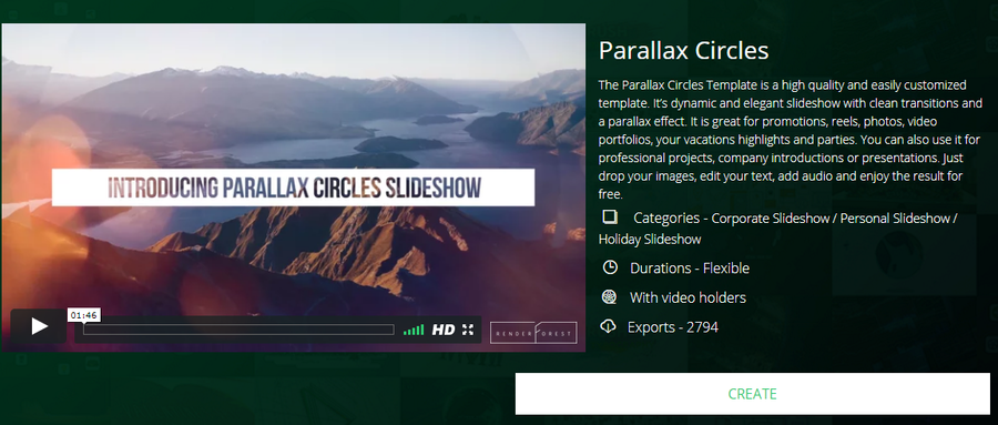 Renderforest Parallax Circles