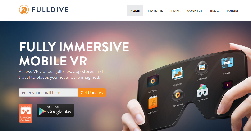 360-Degree app Fulldive VR