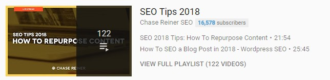 SEO Tips Playlist
