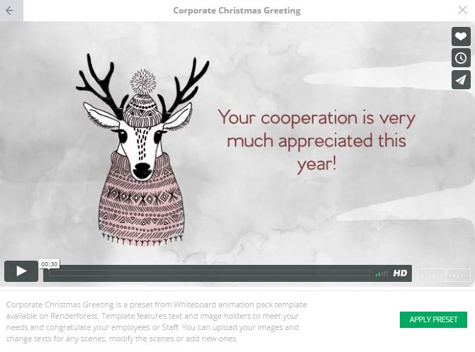 Corporate Christmas Greeting