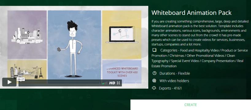 Pacote Animação Quadro Branco