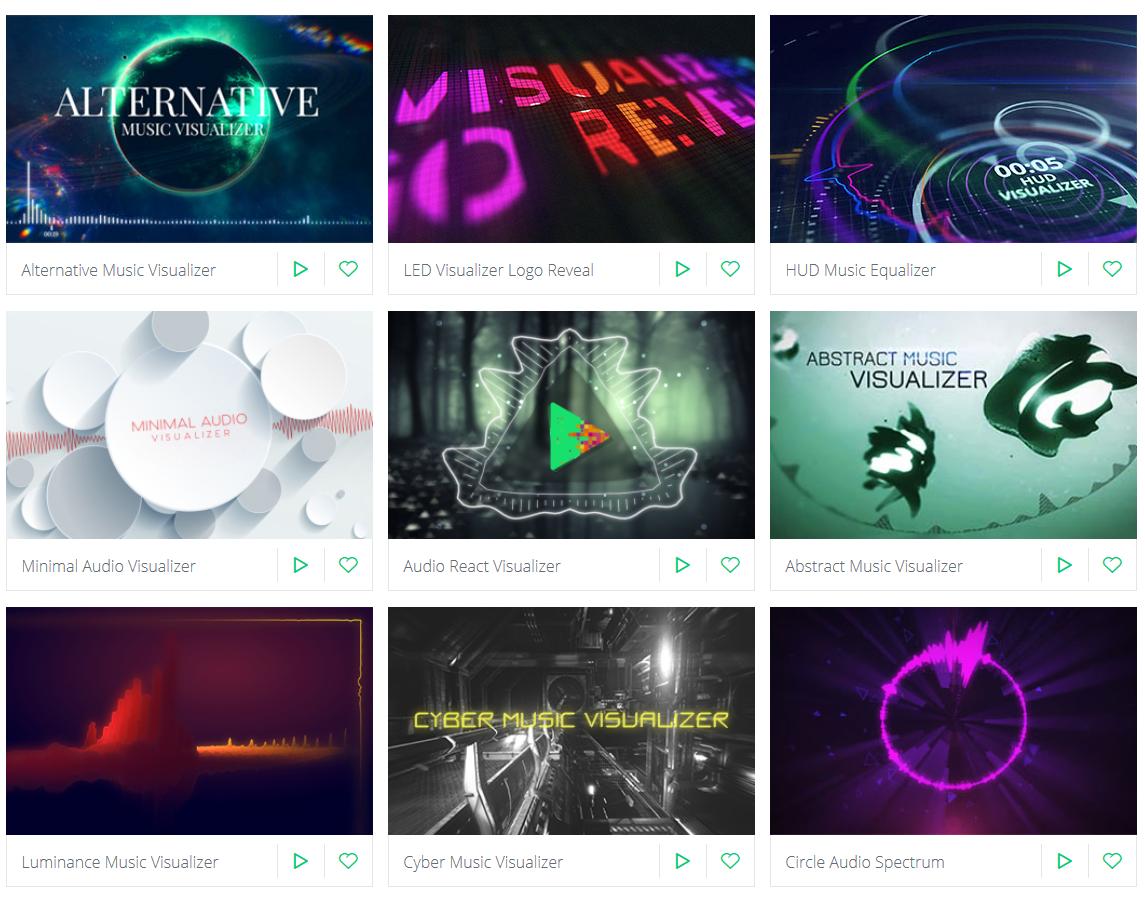 Music Visualization Templates
