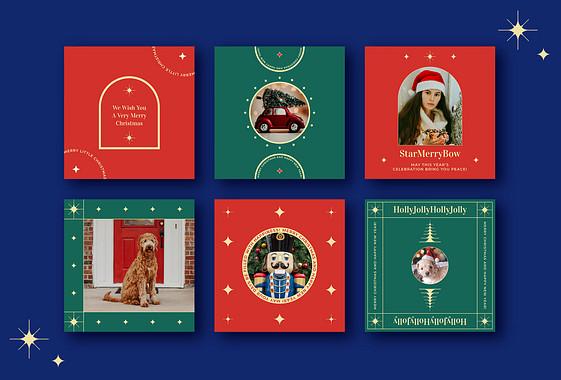 Holiday Greetings Visual Set