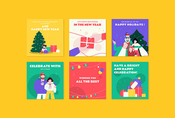 Designs Comemorativos de Ano Novo