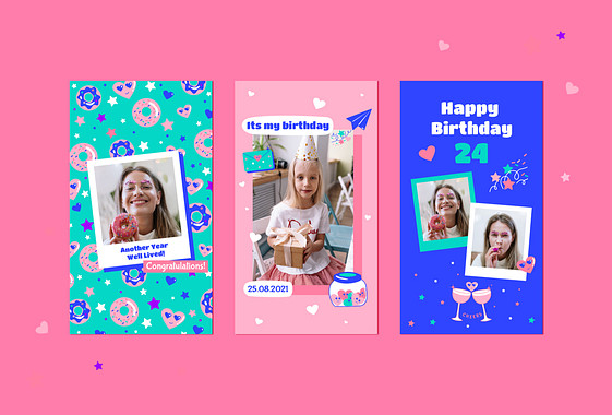 Colorful Birthday Design Pack