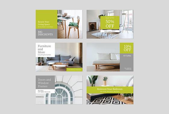 Möbel und Dekor Promo-Designs