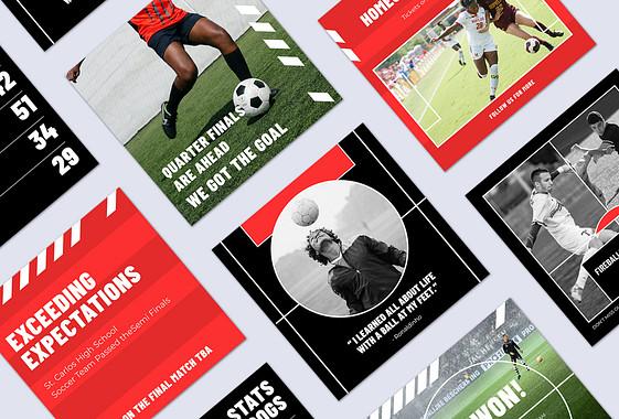 Set de designs sur le thème du football