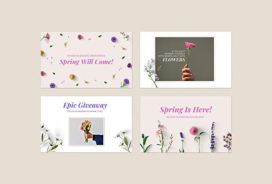 Kit de designs décorés avec des fleurs