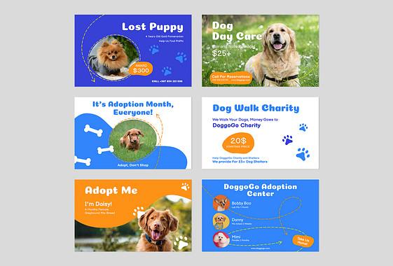 犬をテーマにした色々なデザイン