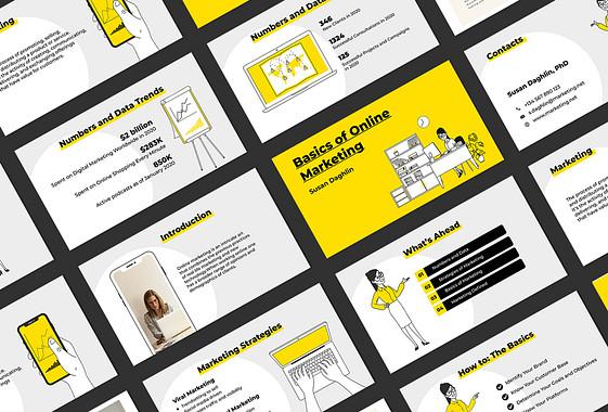 Diapositives pour les cours de marketing en ligne