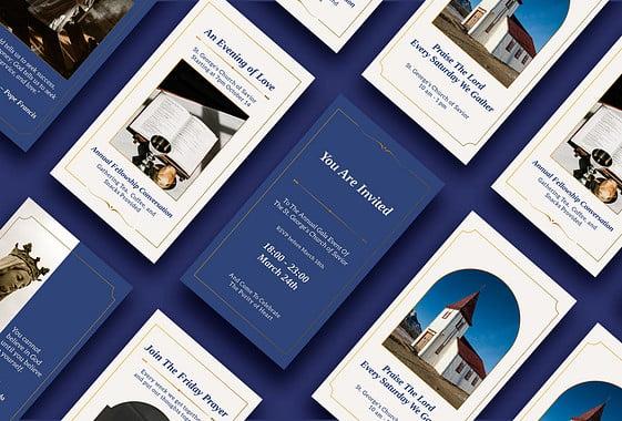 Kit de conceptions pour la promotion des églises