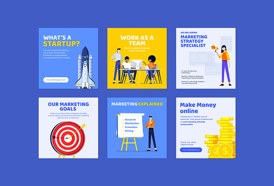 Conceptions pour les campagnes marketing