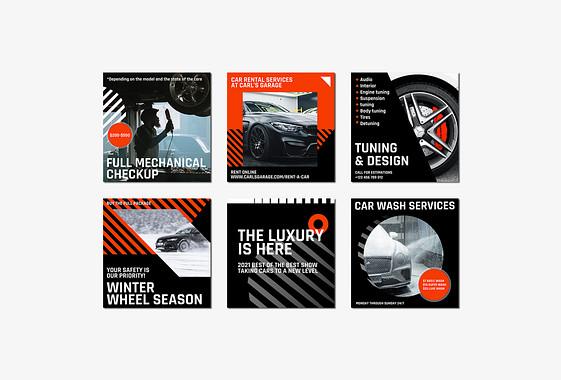 Car Repair Services Visual Set