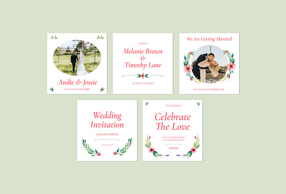 Wedding Invitations Design Pack